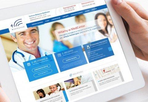 Strona Wordpress - rejestracja pacjentów